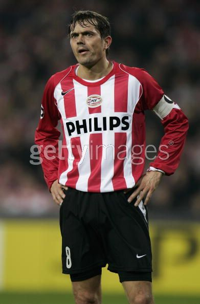 04/06 PSV Home L/S No.8 Cocu Match Worn (vs. Lyon)