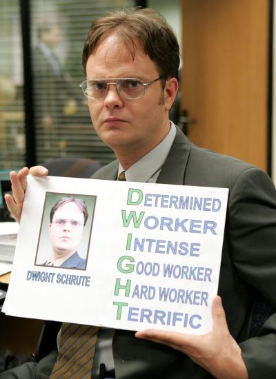 Dwight Schrute Visual Aid