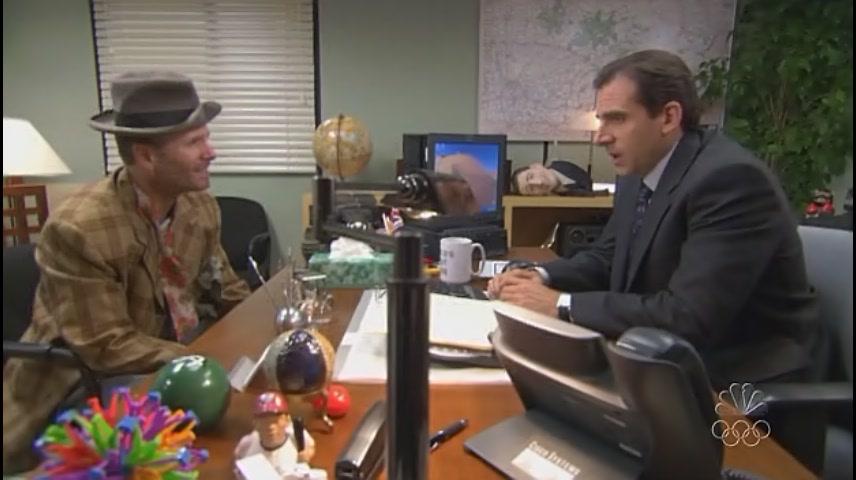 데본에게 그만두라고 얘기하는 마이클