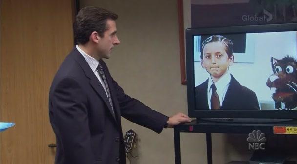 마이클이 출연한 어린이 프로그램, 펀들 번들의 한 장면