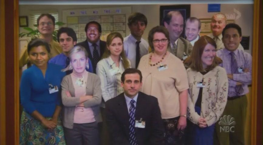 사무실 직원 단체사진
