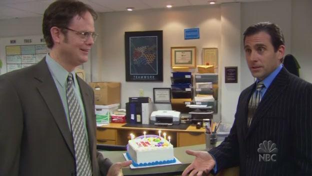 마이클 생일 축하하는 드와이트