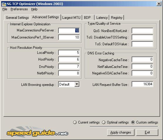 Maple Story :: [Network] TCP Optimizer